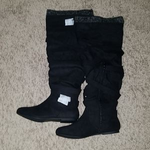 Justfab Knee length suede boots